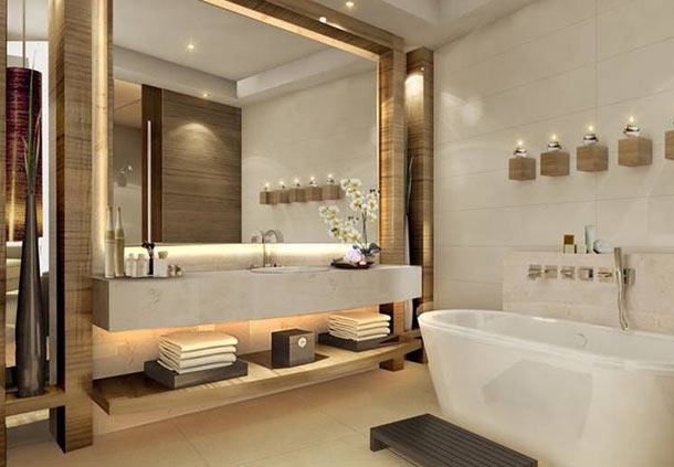 Projet d 39 h tel dubai de witte lietaer for Bathroom interior design dubai