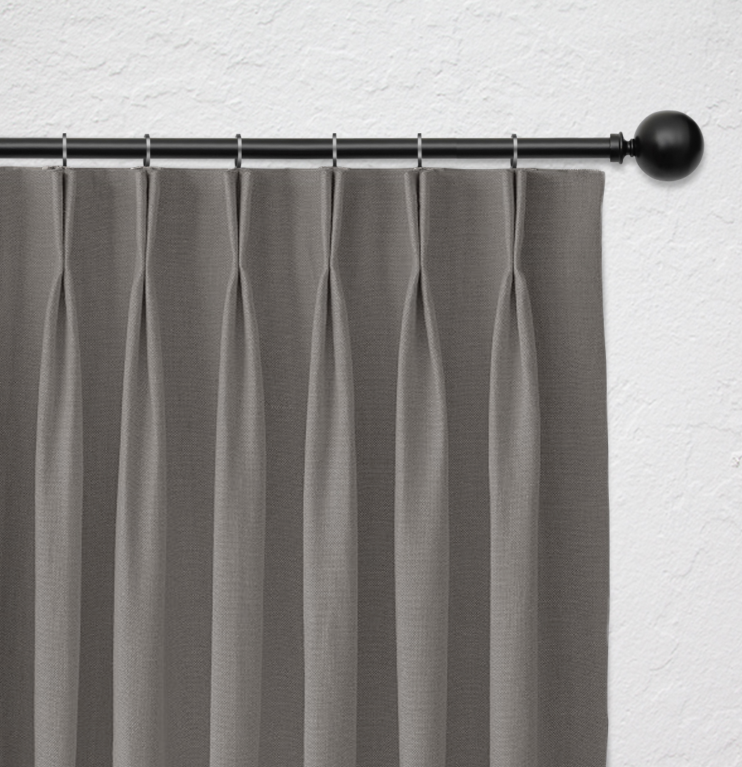 Curtain heading with double fold