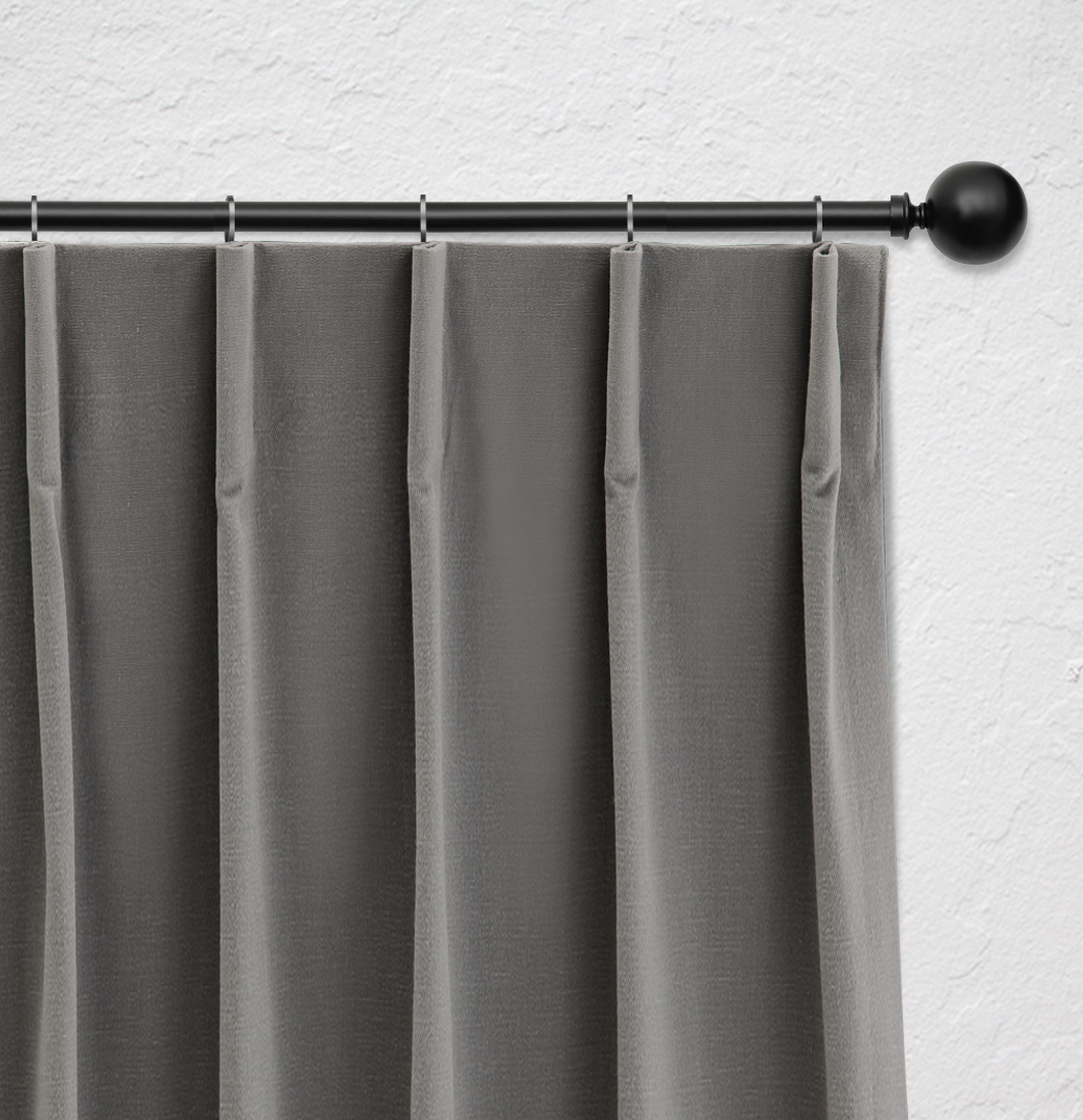 Curtain heading with single fold
